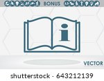 book icon vector illustration... | Shutterstock .eps vector #643212139