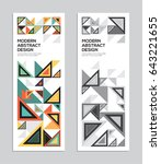 Creative abstract background. Modern graphics background for cover, flyer, banner, poster, wall graphics and branding. | Shutterstock vector #643221655
