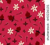 cute seamless floral pattern.... | Shutterstock .eps vector #643226131