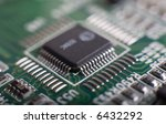motherboard's green electronic... | Shutterstock . vector #6432292