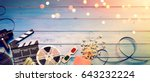 cinema film background  ... | Shutterstock . vector #643232224