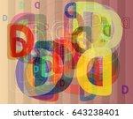 d alphabet elements template   Shutterstock .eps vector #643238401