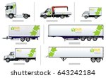 vector transport template for... | Shutterstock .eps vector #643242184