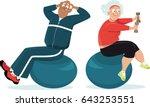 active senior couple working... | Shutterstock .eps vector #643253551