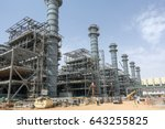 power plant construction | Shutterstock . vector #643255825
