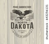 north dakota peace garden state ... | Shutterstock . vector #643256131