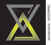 new york typography  tee shirt... | Shutterstock .eps vector #643258981