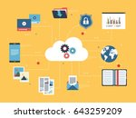 icon of cloud computing with... | Shutterstock .eps vector #643259209