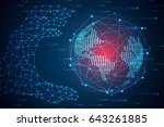 abstract technology concept... | Shutterstock .eps vector #643261885