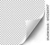 curly page corner realistic... | Shutterstock .eps vector #643266547