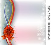 christmas greeting red bow with ... | Shutterstock . vector #64327153
