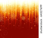 stars and snowflakes on red... | Shutterstock .eps vector #64327699