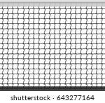tennis net horizontal seamless... | Shutterstock .eps vector #643277164