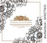 romantic invitation. wedding ... | Shutterstock . vector #643277611