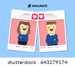 illustration vector of love... | Shutterstock .eps vector #643279174