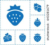 strawberry icon. set of 6... | Shutterstock .eps vector #643281679