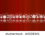 white snowflakes on red with... | Shutterstock . vector #64328341