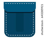 blue pocket icon flat isolated... | Shutterstock . vector #643285921