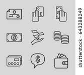 pay icons set. set of 9 pay... | Shutterstock .eps vector #643288249