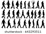 people walking silhouettes  ... | Shutterstock .eps vector #643293511