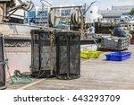 shrimp creels on the pontoon   Shutterstock . vector #643293709