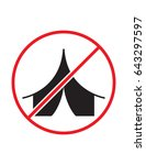 no camping allowed not tent... | Shutterstock .eps vector #643297597