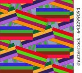 endless abstract pattern.... | Shutterstock .eps vector #643299091