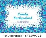 colorful confetti background...   Shutterstock .eps vector #643299721