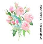 lovely delicate tender elegant... | Shutterstock . vector #643313059