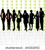 group of women in various poses ... | Shutterstock .eps vector #64332052