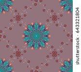 varicolored vector seamless... | Shutterstock .eps vector #643321804