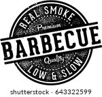 vintage barbecue bbq meat... | Shutterstock .eps vector #643322599