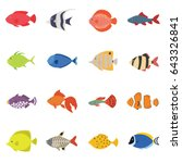 cute fish vector illustration... | Shutterstock .eps vector #643326841