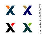 x letter logo template | Shutterstock .eps vector #643326877