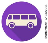 bus flat icon circle | Shutterstock .eps vector #643329211