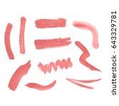 watercolor splashes. set of... | Shutterstock . vector #643329781