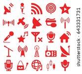 radio icons set. set of 25... | Shutterstock .eps vector #643331731