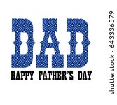 blue bandana dad fathers day | Shutterstock .eps vector #643336579