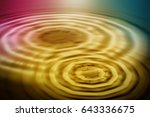 colorful ripple background | Shutterstock . vector #643336675