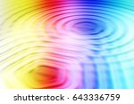 colorful ripple background | Shutterstock . vector #643336759