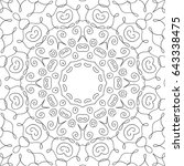 lacy flourish pattern for... | Shutterstock .eps vector #643338475