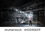 technologies for connection and ... | Shutterstock . vector #643340659