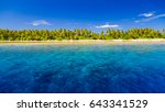 perfect beach background... | Shutterstock . vector #643341529