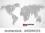 abstract world map of radial...   Shutterstock .eps vector #643344151