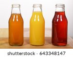 colorful fruit juices in glass... | Shutterstock . vector #643348147