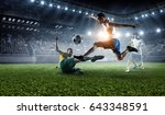 football hottest moments .... | Shutterstock . vector #643348591