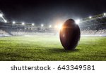 american football arena. mixed... | Shutterstock . vector #643349581