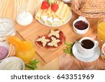 sandwich with yellow cheese... | Shutterstock . vector #643351969