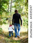 father and daughter walking in... | Shutterstock . vector #64335247
