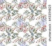 small flowers on white... | Shutterstock .eps vector #643354825